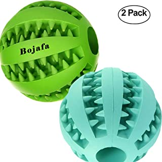 Bojafa Best Dog Teething Toys Balls Durable Dog IQ Puzzle Chew Toys for Puppy Small Large Dog Teeth Cleaning/Chewing/Playing/Treat Dispensing