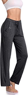 Women's Yoga Pants Long Modal Comfy Drawstring Trousers Loose Straight-Leg for Yoga Running Sporting with Pockets