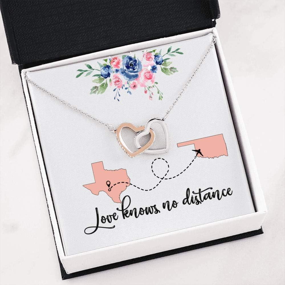 Cute Romantic Gift Interlocking Heart for Wife 倉庫 Girlfrie Necklace 大幅にプライスダウン