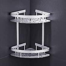 Alatimi 2 Layer Shower Corner Shelf, Space Aluminum Bathroom Shelf Toilet Corner Shelf