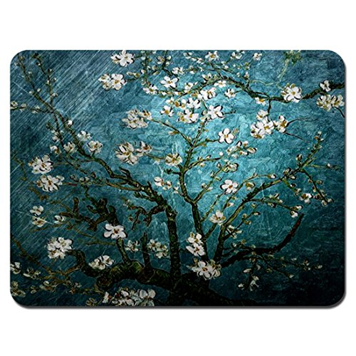 Meffort Inc Standard 9.5 x 7.9 Inch Mouse Pad - Vincent Van Gogh Almond Blossoming