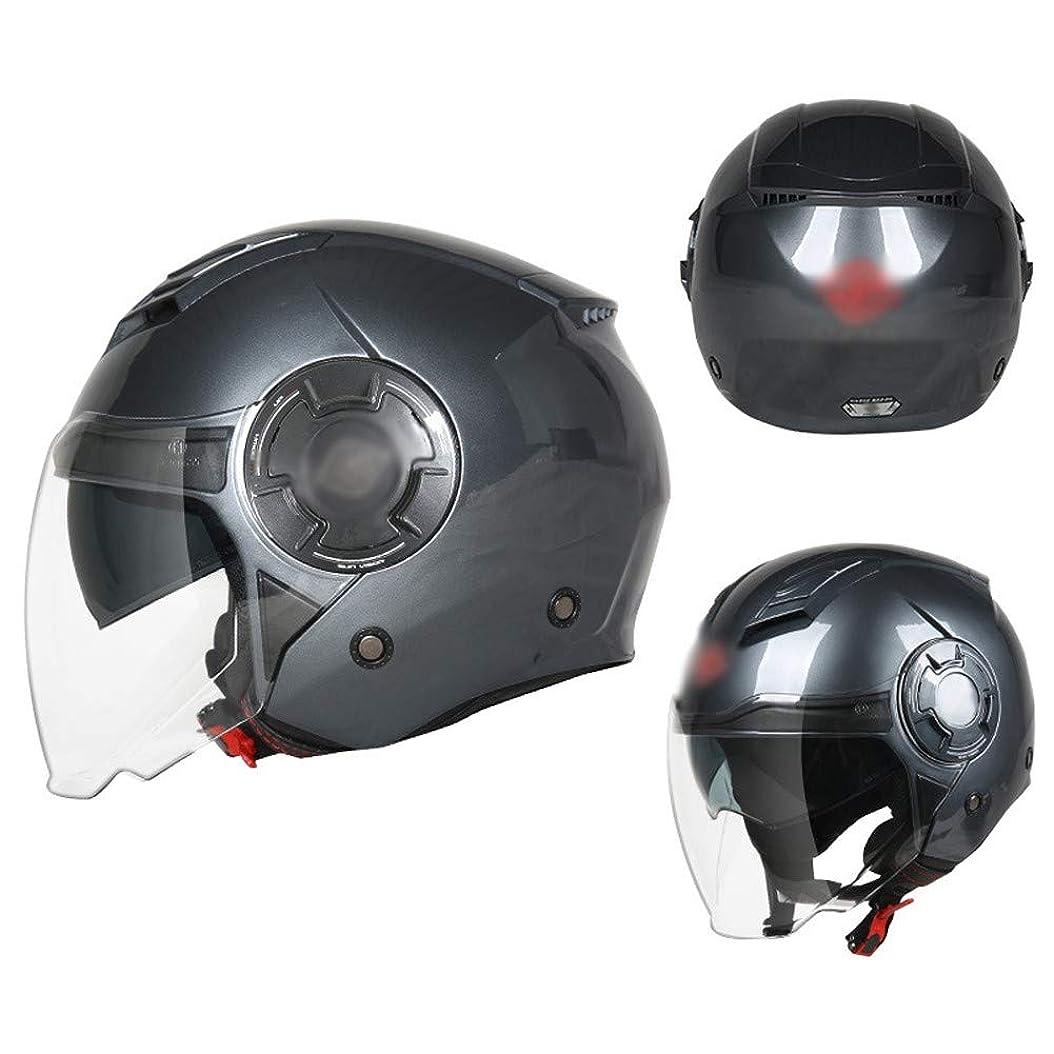 期限切れ輝く変成器ノベルティバイクジェットヘルメットECE認定オープンフェイスバイクヘルメットレトロハーレーハーフヘルメットバイク原付スクーターMofaクラッシュキャップサイクリング保護、取り外し可能なライニングダブルバイザー
