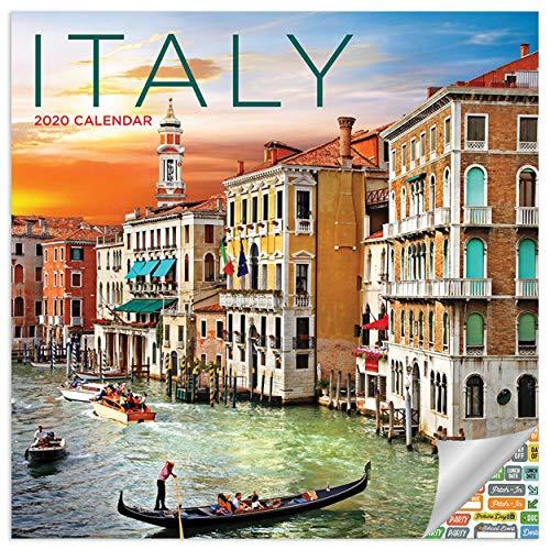 Italy Calendar 2020 Italia Wall Calendar with Over 100 Calendar Stickers
