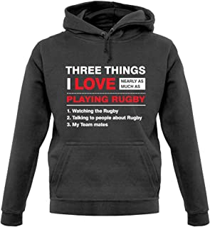 Three Things I Love Nearly As Much As Rugby - Unisex Hoodie/Hooded Top