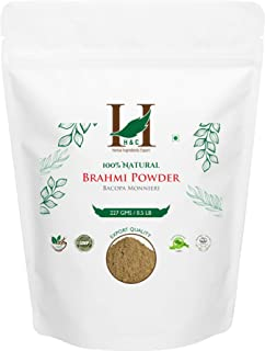 H&C 100% Natural Brahmi Powder / Bacopa Monnieri, 227 G (1/2 LB)