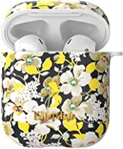 AirPods Cases Covers,Crystal from Swarovski for Apple AirPods 2 & 1 Protective Classical Pear Blossom Elegant Retro Design Hard Case for Girls Women with 5 in 1 Anti-Lost Accessories Set by KINGXBAR
