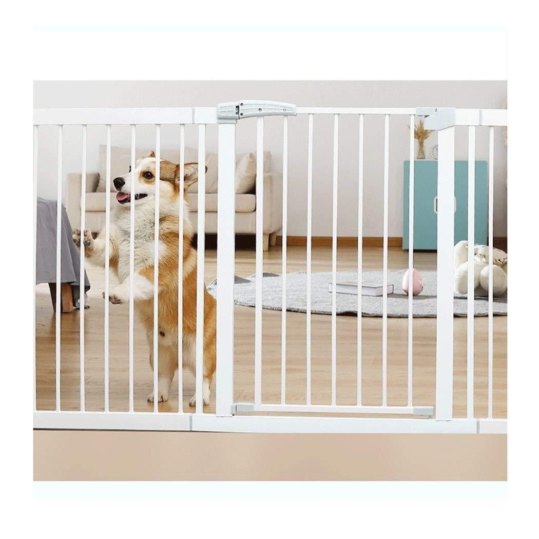 Barreras de puerta Pet Baby Gates Valla de seguridad de barandilla de escalera extra ancha con puerta Escalera de bebé Barandilla de protección resistente a roturas Valla de perro Puerta de aislamient: