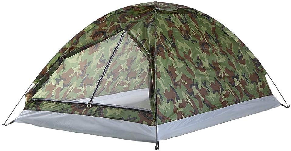 WENMIN 1.2KG 2 Personne Tente Ultralumière Monocouche Résistance à l'eau Tente De Camping Pu1000mm avec Sac De Transport pour La Randonnée Voyageant,M