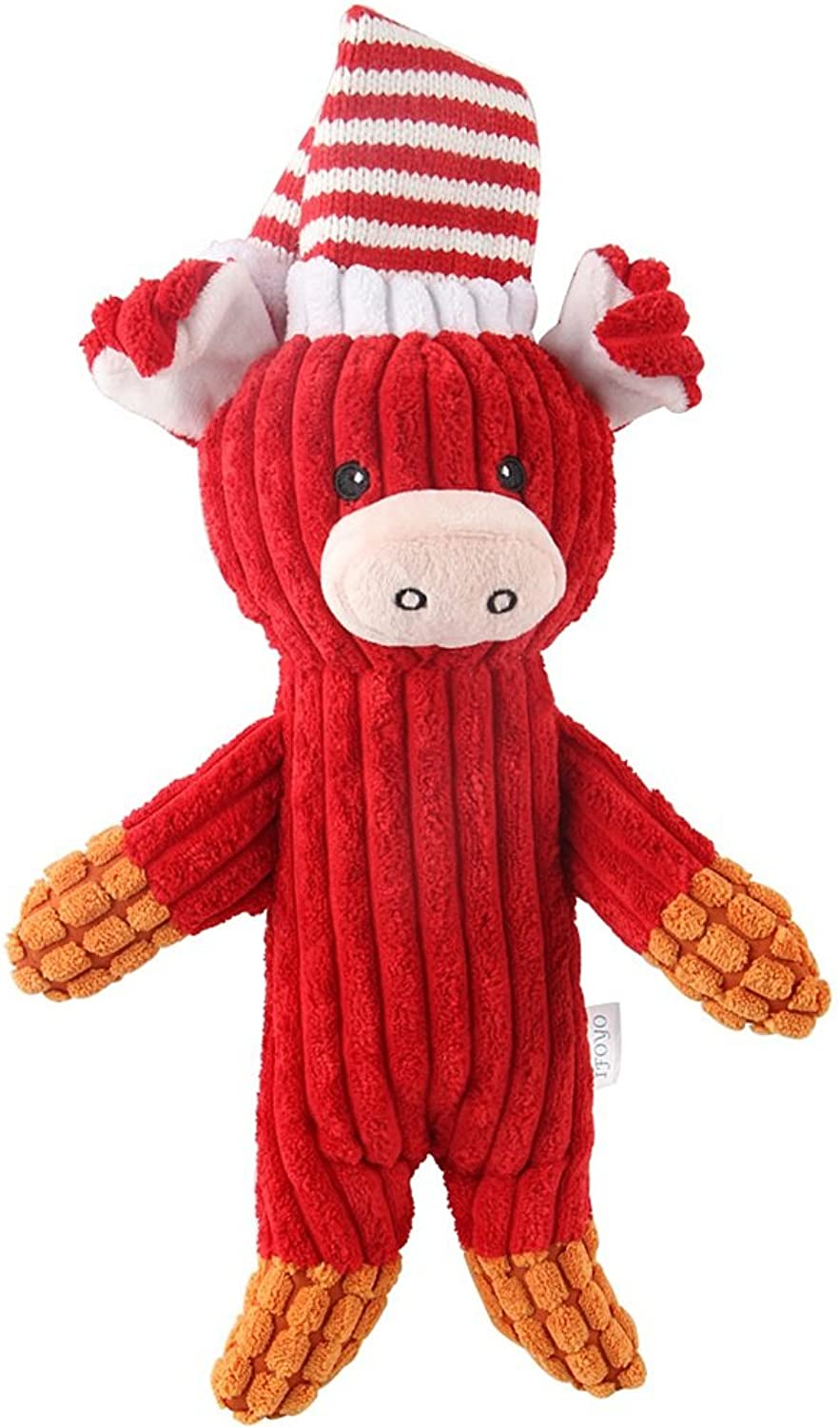 Best Gift Pet Toy for Prevent Boredom,Interactive Plush Squeaky Dog Toys Red