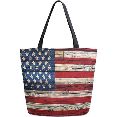 Canvas US Flag Tote Bag
