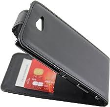 ebestStar - Funda Compatible con Sony Xperia M2 D2302 D2303 Carcasa Abatible PU Cuero, Ultra Slim Case Cover, Negro [Aparato: 139.7 x 71.1 x 8.6mm, 4.8'']
