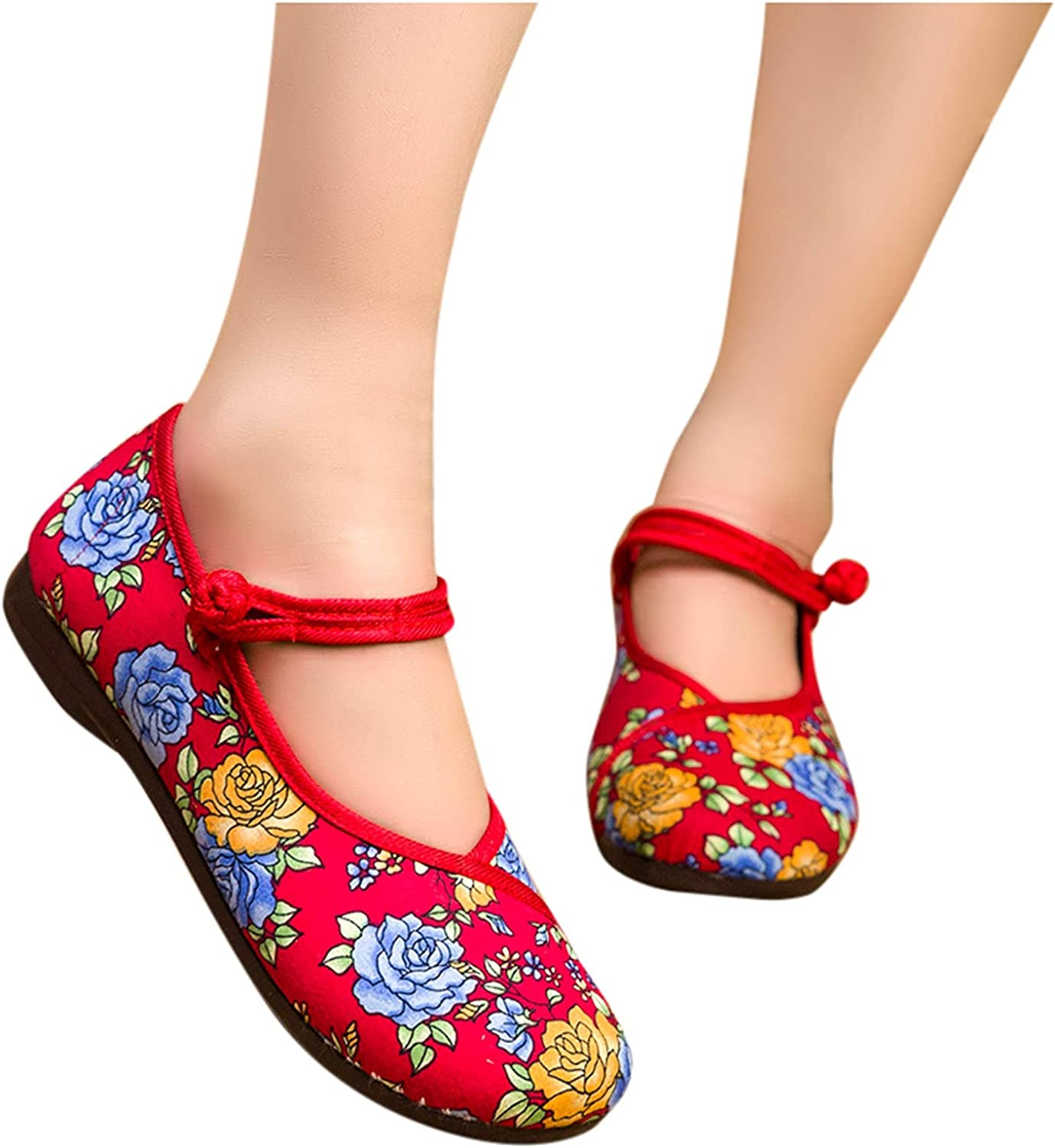Womens Casual Shoes Comfy Ranking TOP3 Max 82% OFF Slip On Embroidered Wedges Cloth