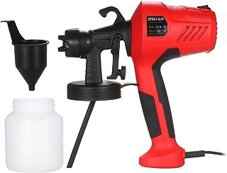 Kecheer 塗装 スプレー ガン 電動 塗装機 塗装スプレー 噴射量調節可能 取り外し可能な高圧ペイントスプレーガン 800ml 調整可能な空気およびペイントフロー制御