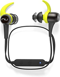 NuForce BE Sport3 Wireless Bluetooth in-Ear Headphones for Sports with aptX, AAC and 10h Battery Life, Water- and Sweat Resistant Earbud, Gunmetal (Renewed)