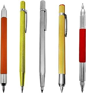 Tockrop 5 Pack Tungsten Carbide Tip Scriber, Aluminium Etching Engraving Pen - Cutter Pens with Clip for Glass/Ceramics/Metal Sheet