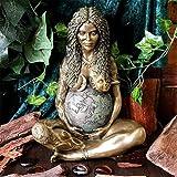 Zueyen Estatua de Gaia Estatua del arte de la Madre Tierra Estatua de la Madre Tierra, Estatua decorativa de Polyresin Estatua del arte de la Madre Tierra, Decoración al aire libre Ornamento