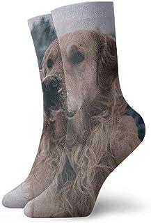 tyui7, Labrador Dog Winter Snow Calcetines de compresión antideslizantes Cosy Athletic 30cm Crew Calcetines para hombres, mujeres, niños