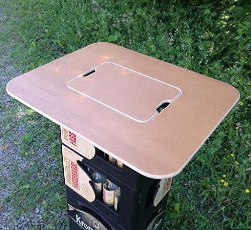 Original BestLoft® Tischaufsatz für Bierkasten – Stehtisch Partytisch Bistrotisch Tischaufsatz 70x58cm (Aufsatz+Servierbrett) - 5