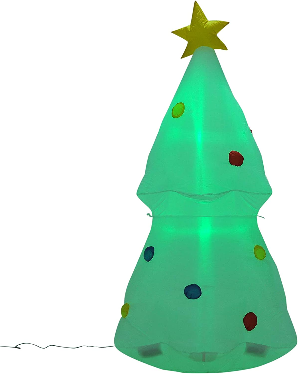 HOMCOM Inflatable Christmas Ranking TOP10 Outdoor Lighted Glo Yard Decoration Max 49% OFF