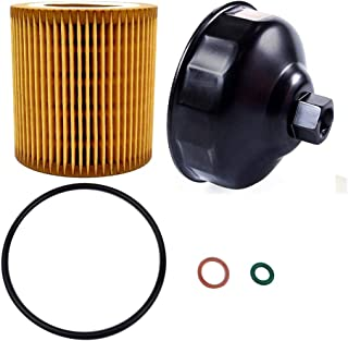 Ibetter Metal-Free HU816 Oil Filter and 86.4mm 16 Flutes Oil Filter Wrench for BMW with HU816 Oil Filter, Oil Filter Housing Cap Removal Tool for Oil Change, Oil Filter Socket Wrench Kit for BMW