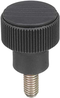 Inch Kipp 06266-5106X10 Thermoplastic Novo-Grip Knurled Wheel 10 mm Screw Length Anthracite Grey Size 1 41 mm Height Bolt Steel 40 mm Diameter Style L Pack of 10 M6 External Thread