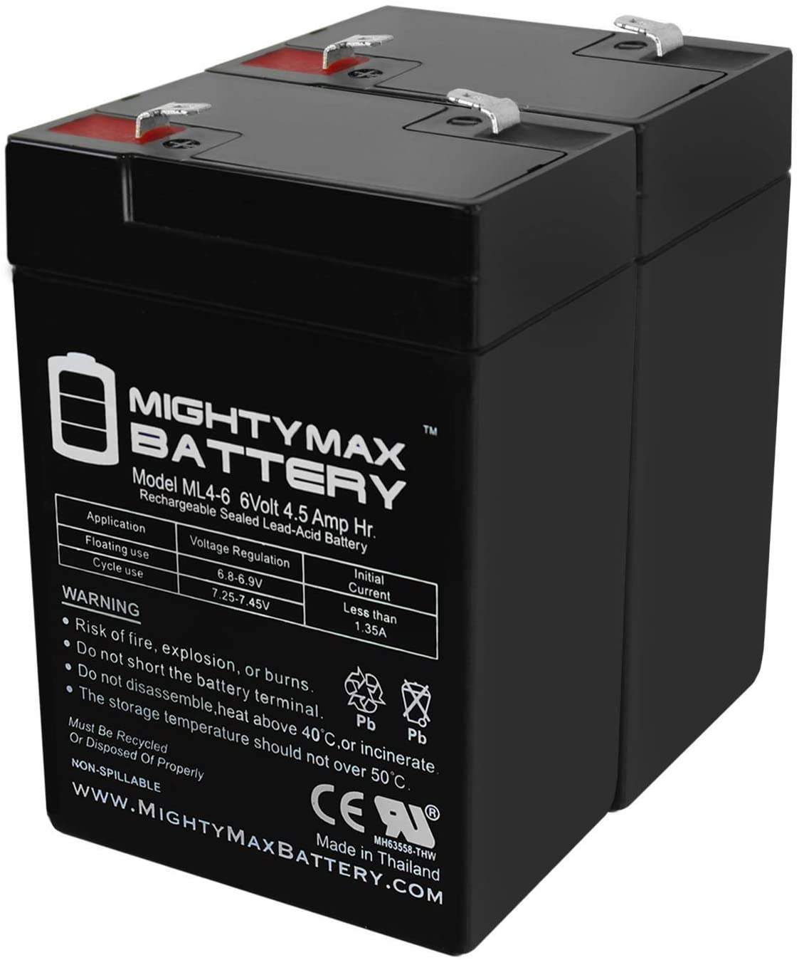 Mighty Max Battery 6V 4.5AH Replacement Boston Mall SLA Amstron 2021 autumn and winter new for