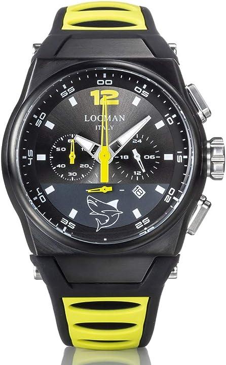 Orologio locman crono nuovo mare giallo e nero 0555K07S-BKGYLISU