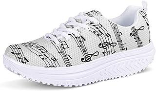 Woisttop, scarpe da ginnastica da donna con zeppa, altezza crescente