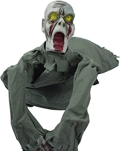 wholesape barato Nihiug Colgante De Halloween Ghost Horror Ghost Crawling Ghost Rompió Rompió Rompió El Cráneo del Fantasma Glow Foam Head Prop Massacre Máscara Facial De Cuero,A  buena calidad