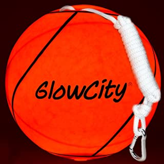 GlowCity LED Light Up Tetherball-Uses Hi Bright LED Light-Better Than Glow in The Dark
