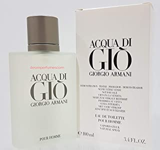 Acqua de Gio [TESTER] Eau de Toilette spray Cologne for Men [WHITE BOX], 3.4 Fl Oz
