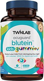 TwinLab Ocuguard Blutein Kids Gummies | 60 Count | Contains Zeaxanthin & Lutein for Blue Light Proteciton | Eye Vitamins