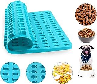 Esteopt Tapis de cuisson en silicone pour biscuits et friandises pour chien - Motif os et poisson - Bleu