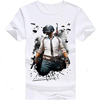 DigiProw PUBG Game, PUBG Player Printed Round Neck Matte Cotton T-Shirt for Kids Boys & Girls   pubg t-Shirt for Boys 13-14 Years