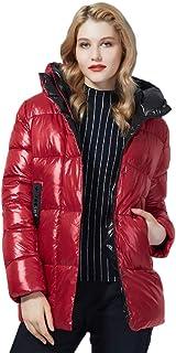 Chaquetas y Abrigos de Invierno para Mujer Abrigo Parka Grueso de Longitud Media Abrigo de Moda cálido Parka