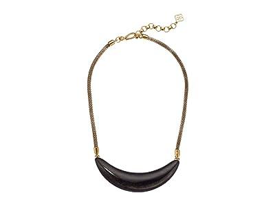 Kendra Scott Kaia Collar Necklace (Vintage Gold Golden Obsidian) Necklace
