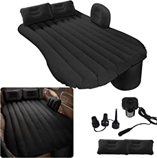 Milky House Car Air Mattress, Removable Gray Backseat Air Bed with Air-Pump, Portable Car Travel Bed with Pillows Fits Mos...