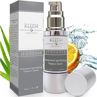 Kleem Organics Vitamine C Serum voor Gezicht met Hyaluronzuur & Vitamine E   Natuurlijk Anti Aging Huid Serum   Anti Rimpe...