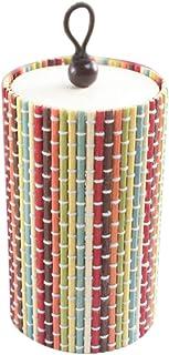 Chytaii Boîte de Rangement Bureau Table Organisateur Crayons Cosmétique Maquillage Bijoux avec Couverture Cylindre Tressé