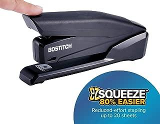Bostitch Office Executive Stapler - 3 in 1 Stapler - One Finger, No Effort, Spring Powered Stapler, Black (INP20-BLK)