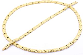 Hugs and Kisses Stainless Steel Stampato Necklace and Bracelet Set Gold Tone 20