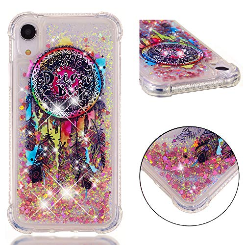 EMAXELER iPhone XR Case iPhone XR Cover 3D Creative Design Cartoon Pattern Anti-Fall Protection Flowing Quicksand Shiny Liquid TPU Soft Case for iPhone XR 6.1' TPU Color Dream Catcher