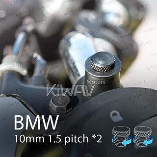 KiWAV バイク用 ミラーホールカバーキャップ ミラー穴埋めボルト 黒 M10 1.5ピッチ 2個セット