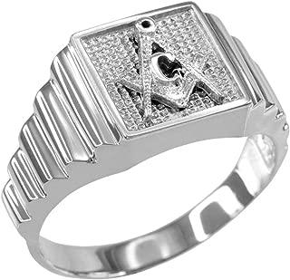 Best masonic rings white gold Reviews