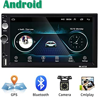 Android Coche Radio 2 DIN GPS CAMECHO 7 Pulgadas Pantalla táctil capacitiva Bluetooth WiFi USB SD AUX FM Reproductor de automóvil Estéreo Enlace de Espejo + Cámara Trasera