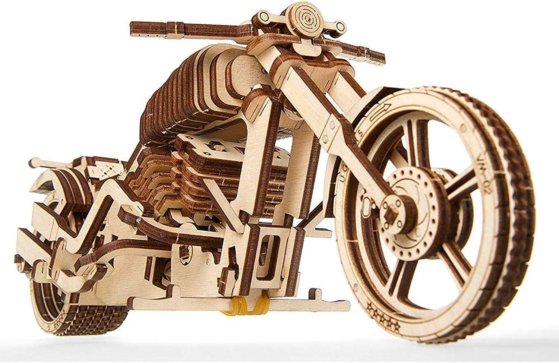 barato y de alta calidad SKLLA Motocicleta de Madera, Proyecto de Modelado técnico-Bici técnico-Bici técnico-Bici con el Kit Modelo de Madera del Motor de Goma de la Venda-ninguì n PeJuegonto necesitó el Kit Modelo de Madera  gran venta
