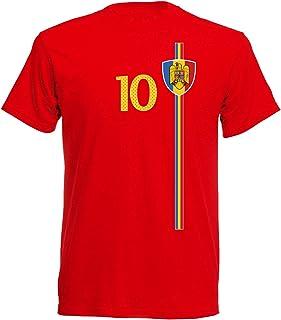 Rumänien România WM 2018 T-Shirt Trikot Look Fußball inkl.Druck Name und Nr