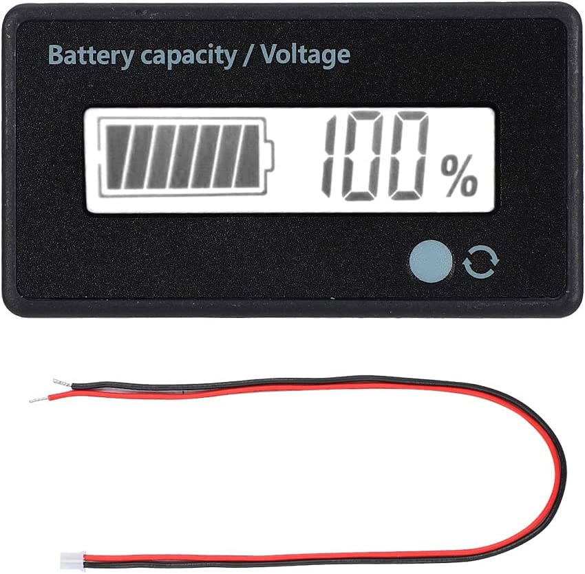Battery Capacity Display, Simple and Efficient Battery Tester Battery Capacity Indicator Sturdy and Durable for Home or Electricity Hazard for Battery Safety(White, Pisa Leaning Tower Type)