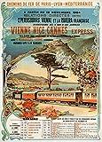 Vintage Travel Europa auf die VENICE, Nizza, CANNES EXPRESS