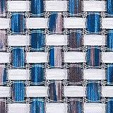Tela decorativa de rayas tejidas azul vaquero – Precio por 0,5 metros